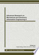 Advanced Research on Mechanical and Electronic Information Engineering II