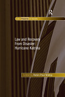 Law and Recovery From Disaster  Hurricane Katrina