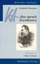 Friedrich Nietzsche  Also sprach Zarathustra