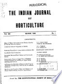 The Indian Journal of Horticulture