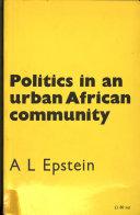 Politics in an Urban African Community