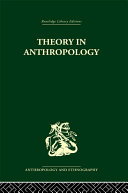 Theory In Anthropol Liban