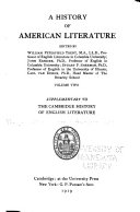 A History of American Literature  Early national literature  pt  2  Later national literature  pt  1