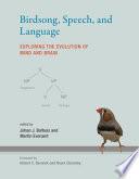 Birdsong  Speech  and Language