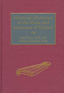 Historical Dictionary of the Music and Musicians of Finland