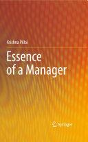 Essence of a Manager Pdf/ePub eBook