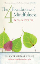 Pdf The Four Foundations of Mindfulness in Plain English Telecharger