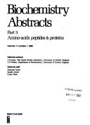 Biochemistry Abstracts