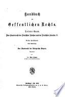 Das staatsrecht des königreichs Bayern ...