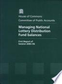 Managing National Lottery Distribution Fund Balances