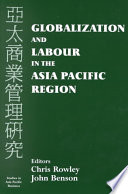 Globalization And Labour In The Asia Pacific Region Book PDF