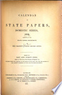 Calendar Of State Papers Domestic Series During The Commonwealth 1655