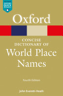 Pdf The Concise Dictionary of World Place-Names Telecharger
