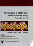 Sweetpotato In South Asia Postharvest Handling Processing Storage And Use Proceedings  Book PDF