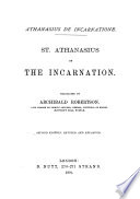 St  Athanasius on the Incarnation