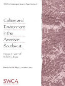 Culture and Environment in the American Southwest Book