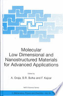 Molecular Low Dimensional And Nanostructured Materials For Advanced Applications Book PDF