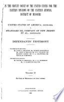 United States of America, Petitioner, V. Standard Oil Company of New Jersey Et Al, Defendants: Defendant's testimony