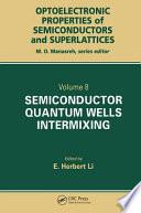Semiconductor Quantum Well Intermixing Book PDF