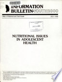 Nutritional Issues in Adolescent Health