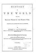 History of the World from the Earliest Period to the Present Time, Collected and Arranged from the Best Authorities