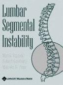 Lumbar Segmental Instability