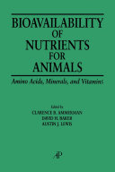 Pdf Bioavailability of Nutrients for Animals Telecharger