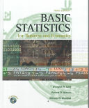 Basic Statistics for Business and Economics Book