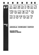 Handbook Of American Women S History