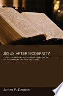 Jesus After Modernity Book PDF