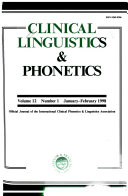 Clinical Linguistics   Phonetics