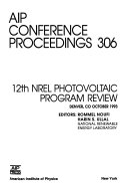 12th NREL Photovoltaic Program Review