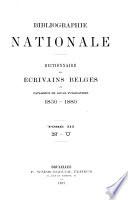 Bibliographie nationale: N-U. 1897