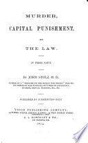 Murder  Capital Punishment  and the Law