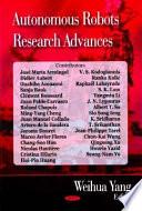 Autonomous Robots Research Advances Book PDF