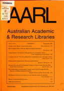 Australian Academic and Research Libraries Book