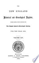 The New England Historical And Genealogical Register