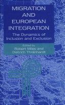 Pdf Migration and European Integration Telecharger
