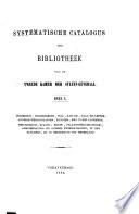 Systematische catalogus der Bibliotheek van de Tweede Kamer der Staten-Generaal
