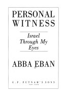 Personal Witness Book