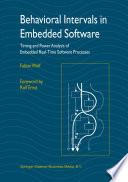 Behavioral Intervals in Embedded Software