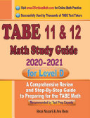TABE 11   12 Math Study Guide 2020     2021 for Level D
