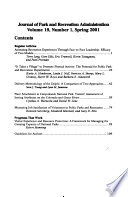 Journal of Park and Recreation Administration