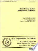 Solar Energy System Performance Evaluation Book