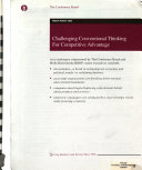 Challenging Conventional Thinking for Competitive Advantage