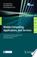 Mobile Computing  Applications  and Services Book