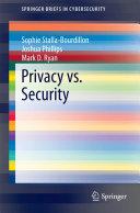 Privacy vs  Security