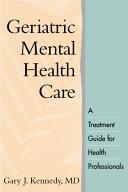 Geriatric Mental Health Care