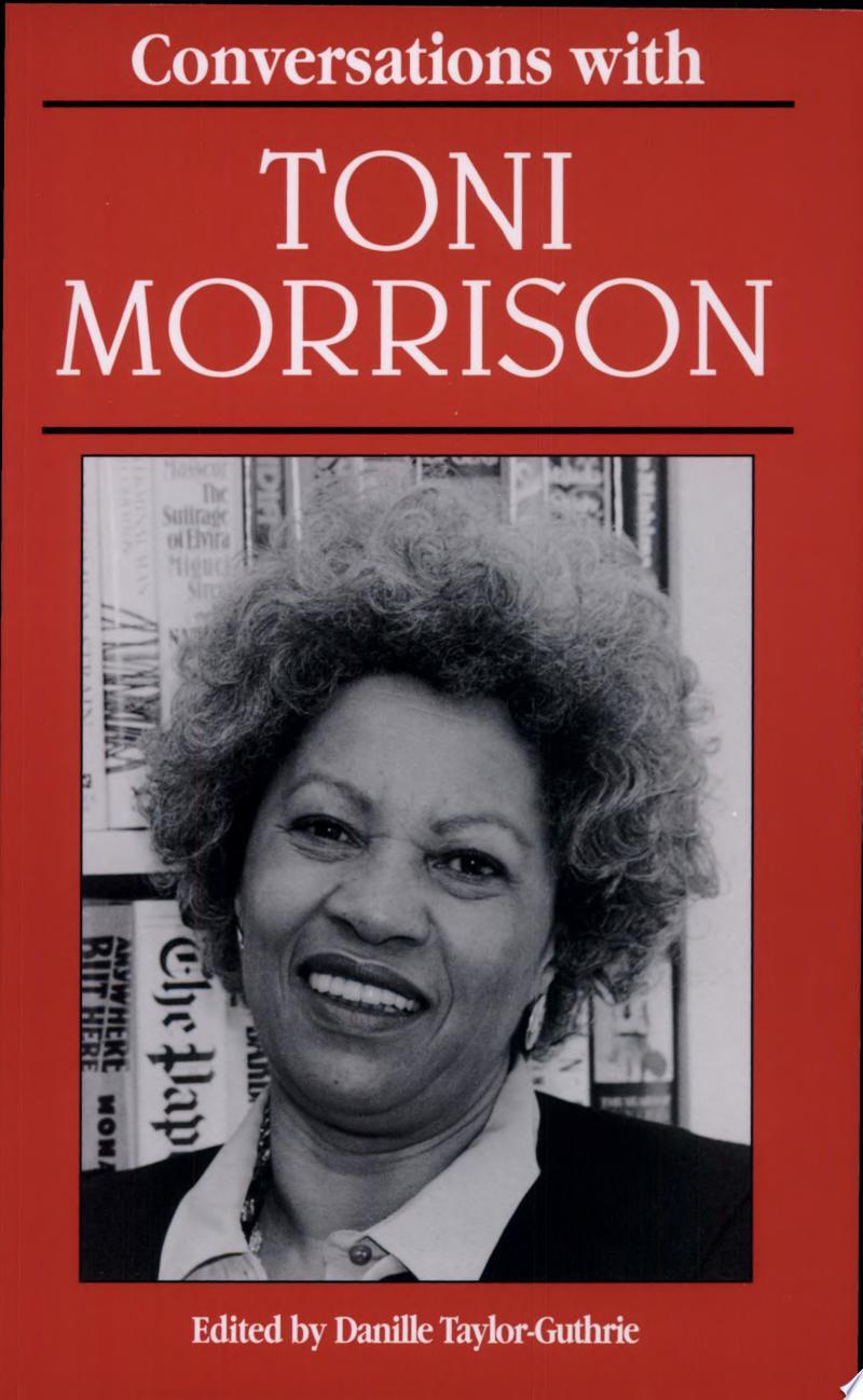 Conversations with Toni Morrison banner backdrop