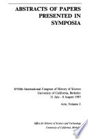 Abstracts: Abstracts of papers presented in symposia